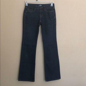 Ann Taylor Loft Curvy Bootcut Jeans Size 0